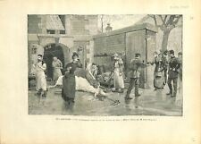Paris Abattoirs Sacrificateurs Israélites Casher Juif le Sang 1890 ILLUSTRATION