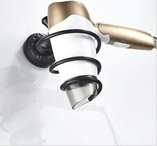 Oil Rubbed Wall Mounted Hair Dryer Holder Brass Bathroom Rack Bathroom Stand