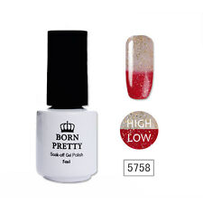 BORN PRETTY Glitter Temperature Thermal Soak Off UV Gel Red To Clear 5ml