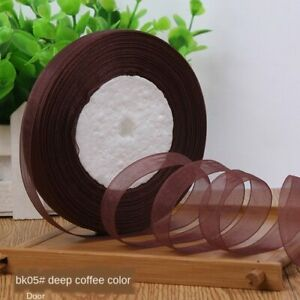 12mm(45meters/Roll) Organza Ribbon Wrapping Christmas Party Home DIY Gift Packag