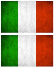 2 X DRAPEAU ITALIE ITALIEN 10cmX6cm AUTOCOLLANT STICKER AUTO DA161