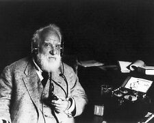 ALEXANDER GRAHAM BELL WITH RADIOPHONE HEADSET 8x10 SILVER HALIDE PHOTO PRINT