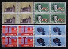 Sello SUIZA / Suiza Stamp - Yvert y Tellier n°602 à 605 x4 N (Cyn27)