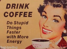 """Funny Vintage Coffee First  Photo Fridge Magnet 2""""x 3"""" Collectibles"""