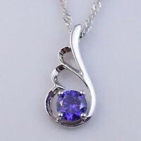 Damen-Halskette Zirkonia FlügelStrass Schmuck violet pl. mit  Sterlingsilber