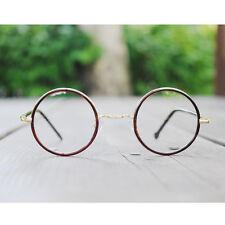 1920s Vintage oliver retro round eyeglasses 2E33 brown frames eyewear rubyruby
