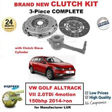 FOR VW GOLF ALLTRACK VII 2.0TDi 4motion 2014->on NEW 3Piece CLUTCH KIT with CSC