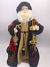 Handcrafted Old World Father Christmas Santa Claus Doll DIANE DYKEMA Whimsey