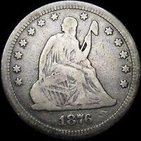 1876-CC Seated Liberty Quarter ----  RARE Original Type Coin  ---- #S174