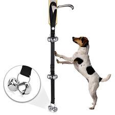 Pet Dog Door Bells Loud Potty Training Puppy Housebreaking Black High Quilty