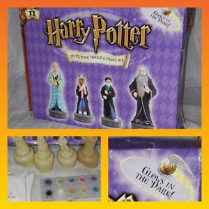 Rare Harry Potter 3D Plaster Mould Paint Set IIFigures Glow In Dark Lockheart