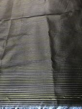 Organza Voile Fabric Great Quality 6.3 Metres Extra Wide Brown w/Stripes