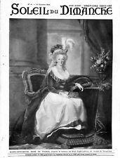 Marie-Antoinette reine de France par Élisabeth Vigée Le Brun ILLUSTRATION 1906