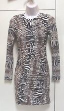 TOPSHOP Animal Print  Dress Size 6 Immaculate Condition