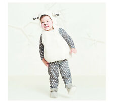 Baby/Toddler Plush Lamb/Sheep Vest Costume Halloween Dress-Up Costume~0-6 Months