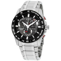 Citizen Eco-Drive Black Dial Stainless Steel Men'S Watch At4008-51E