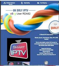 IPTV 12 Month Subscription UK Only Smart IPTV Perfect Player