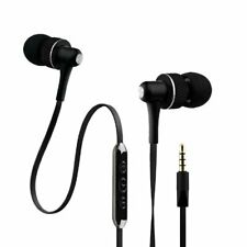 NoiseHush NX45i Handsfree Stereo 3.5mm Headset with Mic and Audio Controls-Black