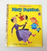 "Vintage Little Golden Book Walt Disney's MARY POPPINS First Edition ""A"" 1964 29c"