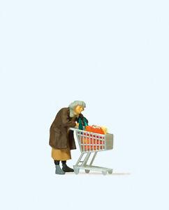 Preiser 29095 Obdachlose mit Einkaufswagen, H0