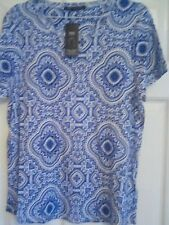 Ladies M&S Collection Summer dressy t-shirt top stay new cotton size 20 bnwt *