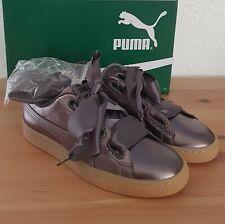Puma Basket Heart Luxe silber taupe Gr.38 neu