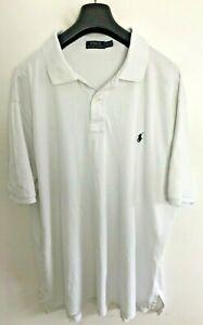 Polo Ralph Lauren Polo Shirt Mens 2XL/3XL Tall White Classic Fit Stretch