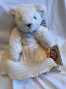 """Vermont Teddy Bear Angel Blue Eyes Jointed Arms Legs & Head Wings 15 1/2"""" Tall"""