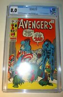 Avengers #78 CGC 8.0, VF,White pages,1970,  1st Lethal Legion,Black Panther app.