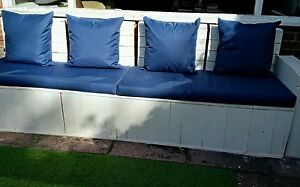 PALLET SEATING FOAM WITH WATERPRROOF CANVAS FABRIC COVER,:L:120CM X 90CM X 5CM