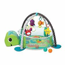 Infantino 3-in-1 Grow With Me Activity Gym and Ball Pit, Toddler Baby Turtle Mat