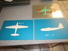 VINTAGE RARE AUTHENTIC HAND PAINTED HK-1 H-4 HERCULES SPRUCE GOOSE OVERLAYS
