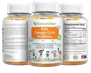 Omega 3 6 9 DHA 275mg Gummy Vitamins Kids ⭐️ Brain, Vision & Eye Support Gummies