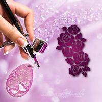 Airbrush klebe Schablonen - BvG178 - Nailart - Blume Blüte Rose für Schmuck -XL-