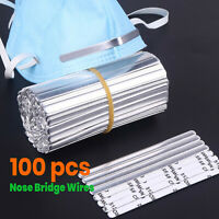 [100 PCS] Metal Nose Bridge Wires Strip Nose Bracket Face Mask Sewing 5MM