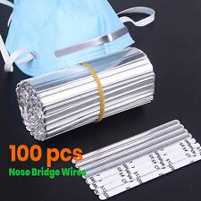 [100 PCS] Metal Nose Bridge Wires Strip Nose Bracket Face Mask Sewing 5MM