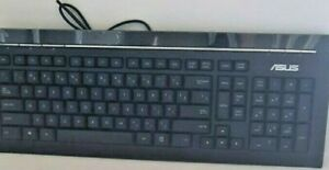 ASUS Slim Multimedia Black USB Keyboard Model: KB34211E      /m/