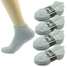Wholesale Solid Gray Men's Ankle Quarter Sport Socks Cotton Size 9-11 10-13