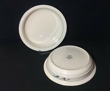 """Lenox Chinastone Poppies On Blue Round Vegetable Serving Bowls 9 3/4"""" Set of 2"""