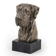 Deutsche Dogge (ungeschnitten), Hundemarmorstatue Büste, ArtDog, CH