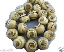 perles en verre 13 mm gris marbré lot de 25 - PV10