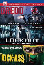 Dredd/Lockout/Kick-Ass (DVD, 2013, 3-Disc Set, Canadian)