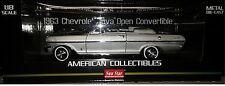 1963 CHEVY NOVA OPEN TOP Diecast Car 9 inch SUN STAR 1:18 AMERICAN SS3976 SILVER