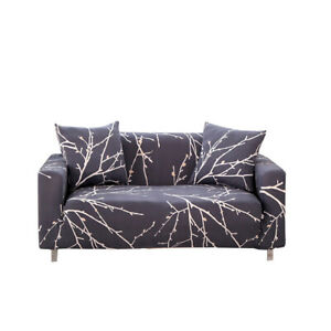 1-4 Seater Sofa Cover Slipcover Elastic Stretch Protector Couch Floral Patterns