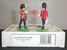 Britains 8312 Coldstream Guards ufficiale di banda + tamburo maggiore METAL Set Giocattolo Soldato