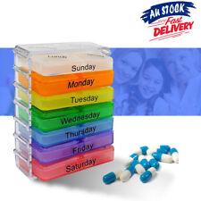7 Day Weekly Pill Box Medicine Tablet Storage Container Case Organizer Dispenser
