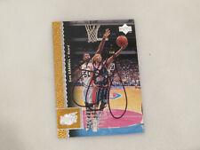 Sam Cassell Autographed Hand Signed Card  Houston Rockets Upper Deck
