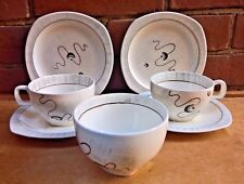 RETRO VINTAGE MIDWINTER STYLECRAFT JESSIE TAITT PAIR OF TRIOS AND SUGAR BOWL