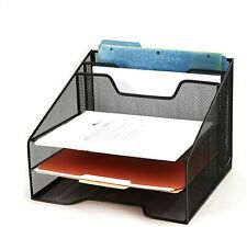 Mind Reader Mesh Desk Organizer 5 Trays Desktop Document Letter Tray for