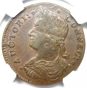 1787 Connecticut Draped Bust Left Coin - NGC MS62 (BU UNC) - $7,000 Value!